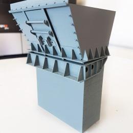 Mining Chute Miniature Model