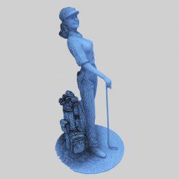 Bronze Golfer Statue 3D Scan