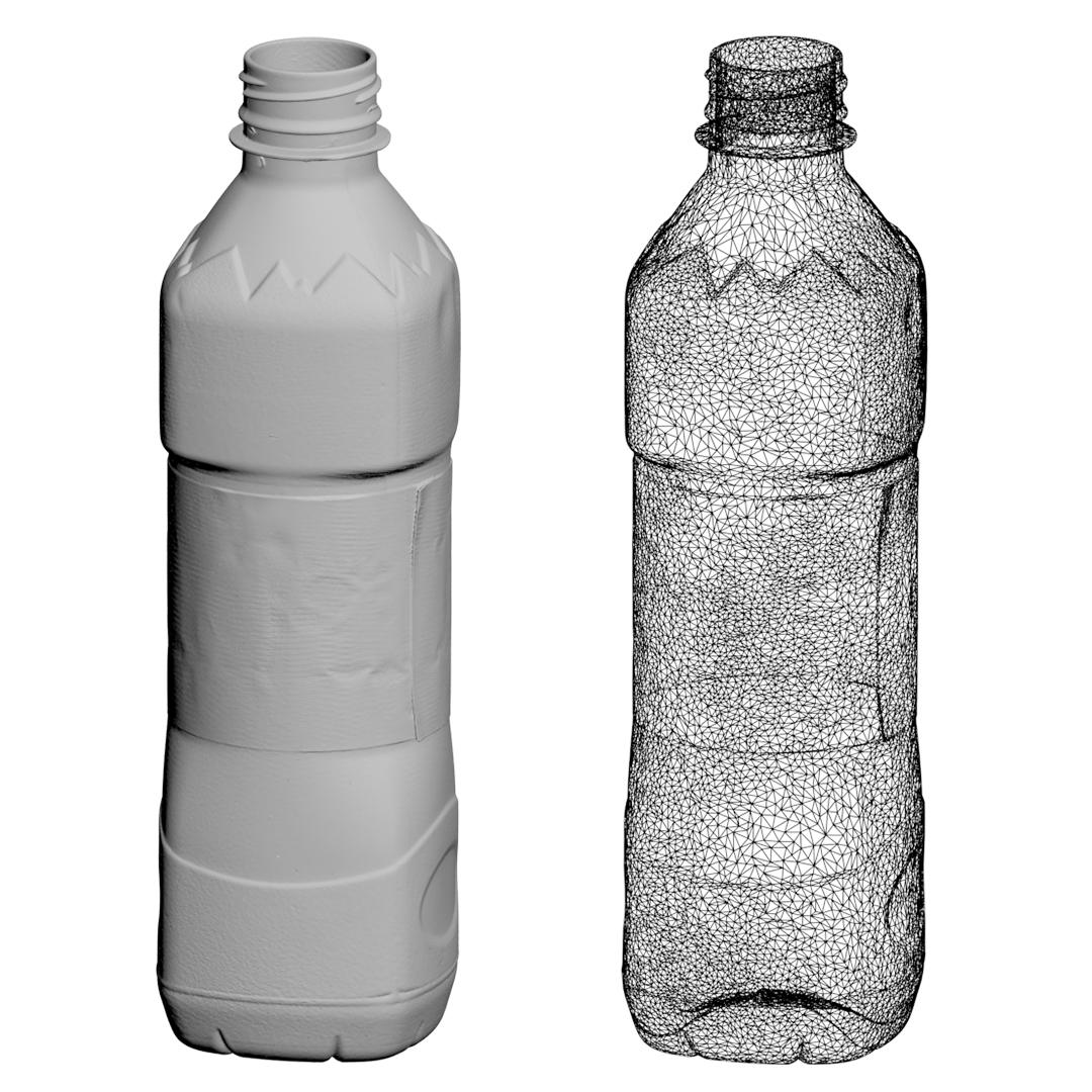 Water Bottle High Resolution 3D Scan