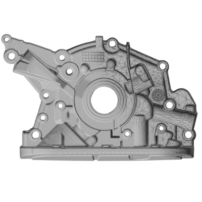High Resolution 3D Scanned Reverse Engineering Part Accurate