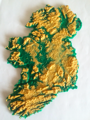 Map Of Ireland 3d.Map Of Ireland Multicoloured Plastic 3d Print 3d Printing