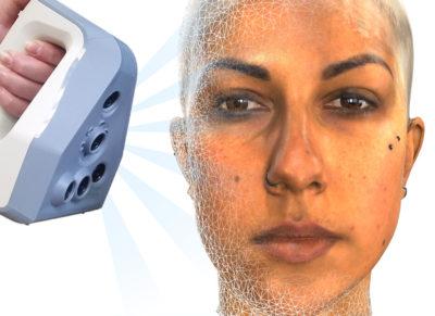 Artec studio face mesh scanning